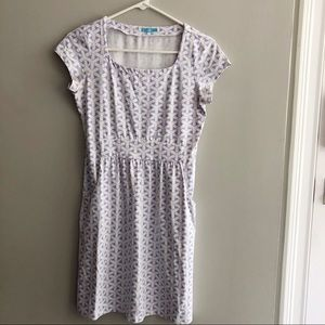 Adorable J. McLaughlin Lavender White Dress Sz XS